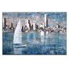 Artist Lane Sailing on Albert Park Lake by Jennifer Webb Painting Print on Canvas