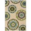 Oriental Weavers Caspian Ivory & Green Indoor/Outdoor Area Rug
