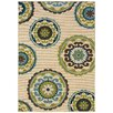 Oriental Weavers Caspian Ivory / Green Indoor / Outdoor Area Rug