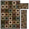 Oriental Weavers Trio Geometric Block 3 Piece Rug Set