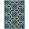 Oriental Weavers City Ivory & Blue Indoor/Outdoor Area Rug
