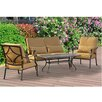 Sunjoy Canyon 4 Piece Deep Seating Group with Cushions