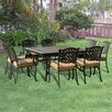 Sunjoy Vintage 9 Piece Dining Set with Cushions