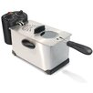 Cuizen 3.3 Liter Stainless Steel Immersion Deep Fryer with Temperature and Timer Controls