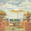 "Portfolio Canvas Decor ""Umbrella Patio"" Painting Print on Wrapped Canvas"