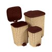 Superior Performance 3 Piece Trash Can Set