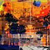 The Artwork Factory Sunset Blvd Graphic Art on Canvas