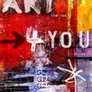 The Artwork Factory Letra Art 33 Art-For-You Graphic Art on Canvas