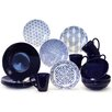 Baum Blue & White 16 Piece Dinnerware Set