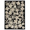 Hokku Designs Marigold Charcoal/White Area Rug