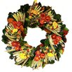 Dried Flowers and Wreaths LLC Fall Strawflower Wreath