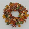 Dried Flowers and Wreaths LLC Oak Leaves and Gourd Wreath