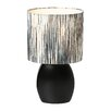 "Lite Source Ceramic Contemporary 17"" H Table Lamp with Drum Shade"