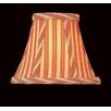 Printed Stripes Chandelier Shade in Red and Gold