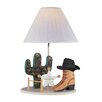 "Lite Source Cowboy Western 21.5"" H Table Lamp with Empire Shade"