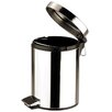 Zodiac Stainless Products 5-Litre Stainless Steel Round Pedal Bin