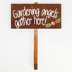 The Cornish Pixie Company Gardening Angels Gather Here! Garden Stake