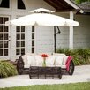 "Home Loft Concept 9'11"" Baja Cantilevel Umbrella with Base"