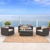Home Loft Concept Murano 4 Piece Deep Seating Group with Cushion