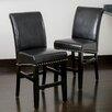 "Home Loft Concept Lisette 25"" Bar Stool with Cushion (Set of 2)"