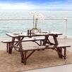 Home Loft Concept Cinnabar 3 Piece Dining Set