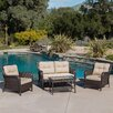 Home Loft Concept Savona 4 Piece Deep Seating Group with Cushion