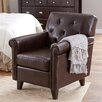 Andover Mills Tufted Club Chair in Leather