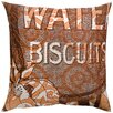 Koko Company Press Cotton Print Water Biscuits and Tile Pillow