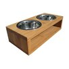 Pet Lounge Studios Bambu Pet Diner Double Feeder