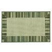 Bacova Guild Cotton Elegance Border Stripe Blue Rug