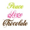 <strong>Attitude Aprons by L.A. Imprints</strong> Peace Love Chocolate Apron