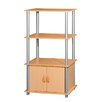 "<strong>44"" H Three Storage Shelf with Cabinet Shelving Unit</strong> by Home Basics"