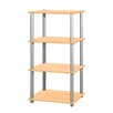 "Home Basics 44"" Four Storage Shelf Shelving Unit"
