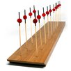 Restaurantware Bamboo Reversible 20-Hole Skewer Holder