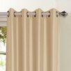 Window Elements Jane Faux Silk Grommet Curtain Panel