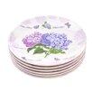 "Shall Housewares International Hydrangea 6.5"" Melamine Plastic Plate (Set of 6)"