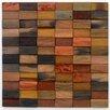 "Avenue Mosaic 12"" Teak Flooring in Steps - Split Level Mosaic"