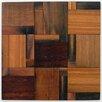"Avenue Mosaic 12"" x 12"" Driftwood Teak Matchbox Mosaic Tile"