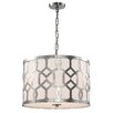 Libby Langdon for Crystorama Jennings 3 Light Drum Pendant