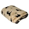 Zoey Tails Plush Embossed Dog Throw in Beige
