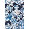 Thomas Paul Tufted Pile Blue Toile Rug