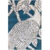 Thomas Paul Tufted Pile Turquoise Peacock Rug