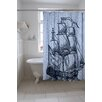 Thomas Paul Galleon Cotton Shower Curtain