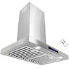 "AKDY 30"" 760CFM Stainless Steel Wall Mount Range Hood with LED Touch Control"