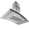 "AKDY 36"" 870CFM Stainless Steel Island Mount Range Hood with LED Touch Control"
