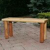 Moon Valley Rustic Nicholas Wood Picnic Bench