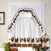 Ellery Homestyles Studio Farmington Rooster Valance and Tier Set
