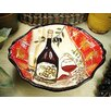 D'Lusso Designs Wine Cheese Ceramic Deep Oval Bowl