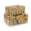 John Richard 2 Piece Horn Boxes Set