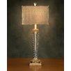 "John Richard Crystal Metal 32"" H Table Lamp with Square Shade"